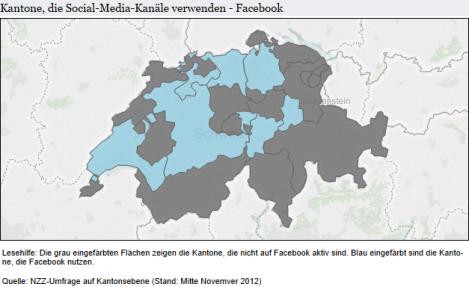 Kantone auf Facebook