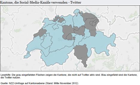 Kantone auf Twitter