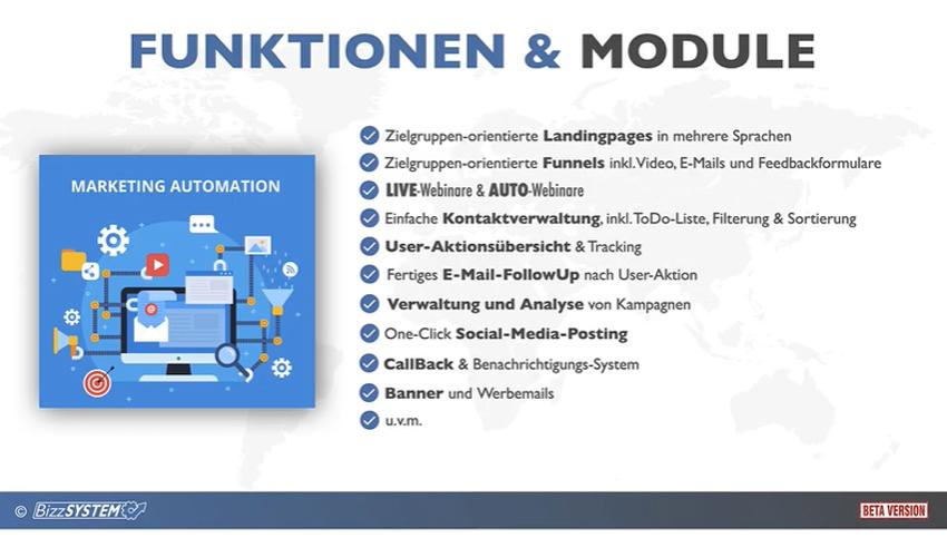 bizzsystem - funktionen und module - maxxidee.online